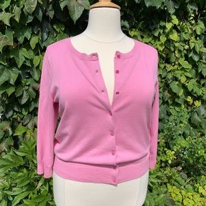 Talbots Sweaters - TALBOTS Pima Cotton Cardigan, 1X
